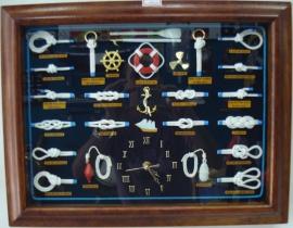 Quadro de Nós 45 X 35 com  Relógio