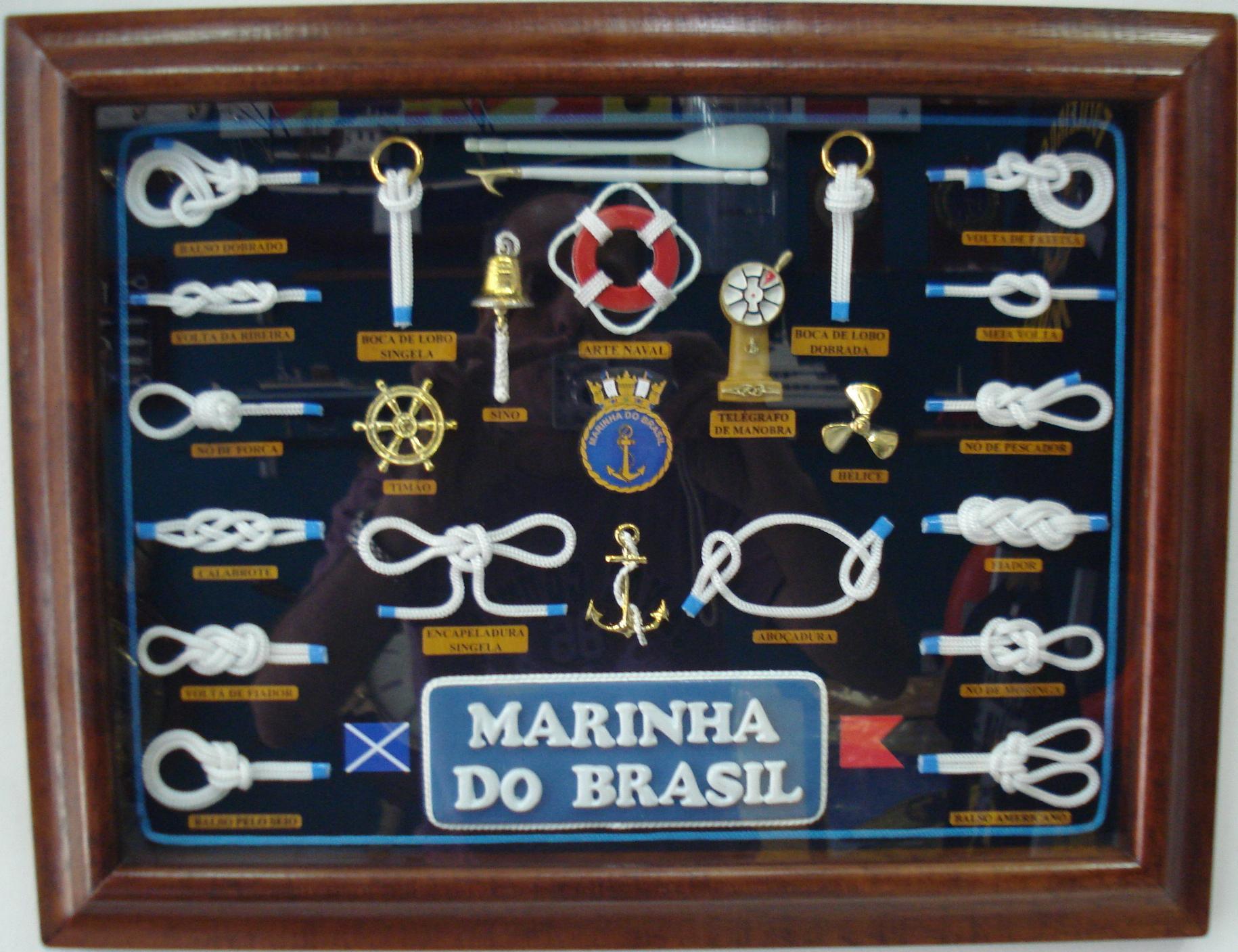 Quadro Nós Marinha do Brasil 45 X 35