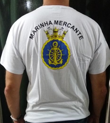 Camisa Marinha Mercante  Branca