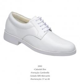 Sapato Branco de Couro Marinha