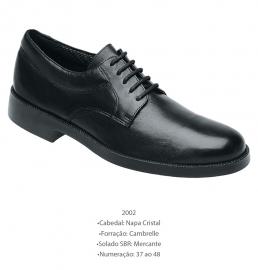 Sapato Preto de Couro Marinha