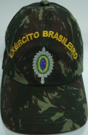 Boné Exército Brasileiro Bordado Camuflado