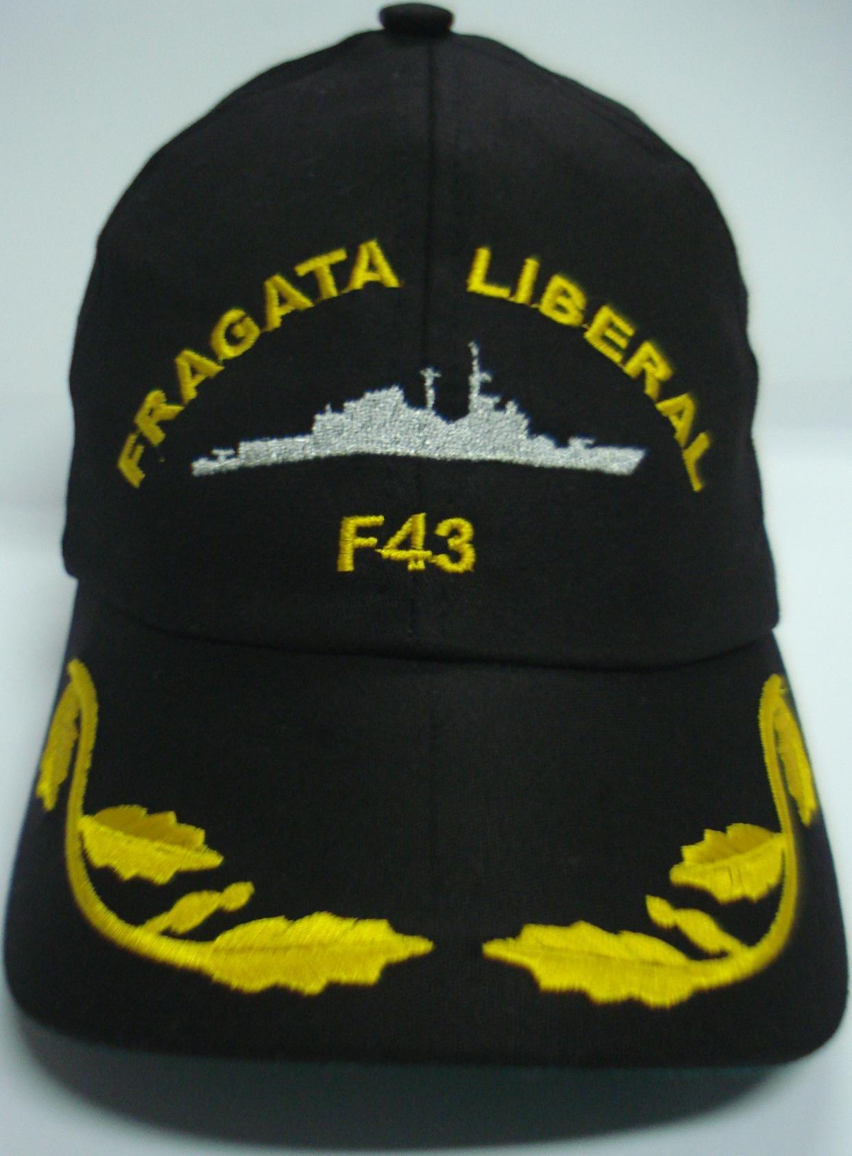 Boné Fragata Liberal Bordado Preto