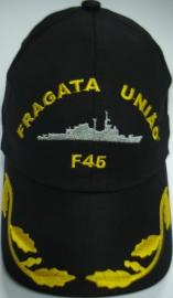 Boné Fragata União Bordado Preto