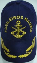 Boné Fuzileiros Navais Bordado Azul