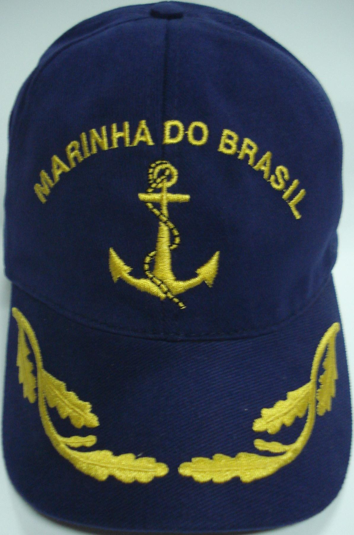 Boné Marinha do Brasil Bordado Azul
