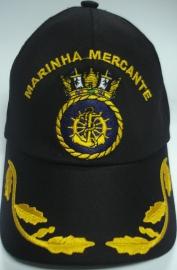 Boné Marinha Mercante Bordado Preto