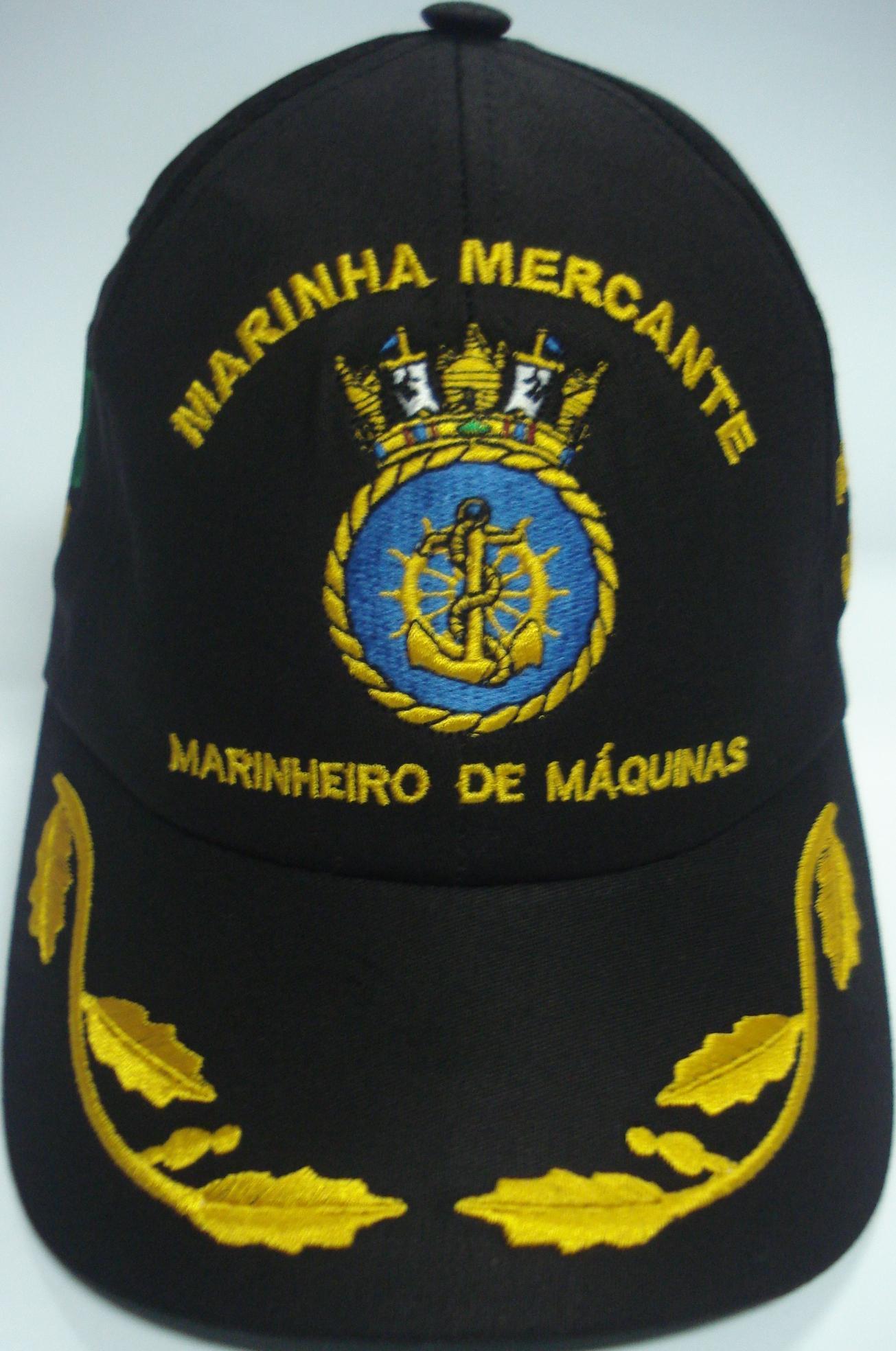 Boné Marinheiro de Máquinas Bordado