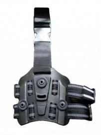 Plataforma de Coxa Polímero Com Suporte Para Coldre Lanterna e Carregador