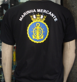 Camisa Marinha Mercante Preta