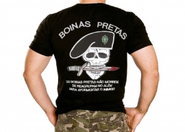 Camisa Boina Preta Bordada